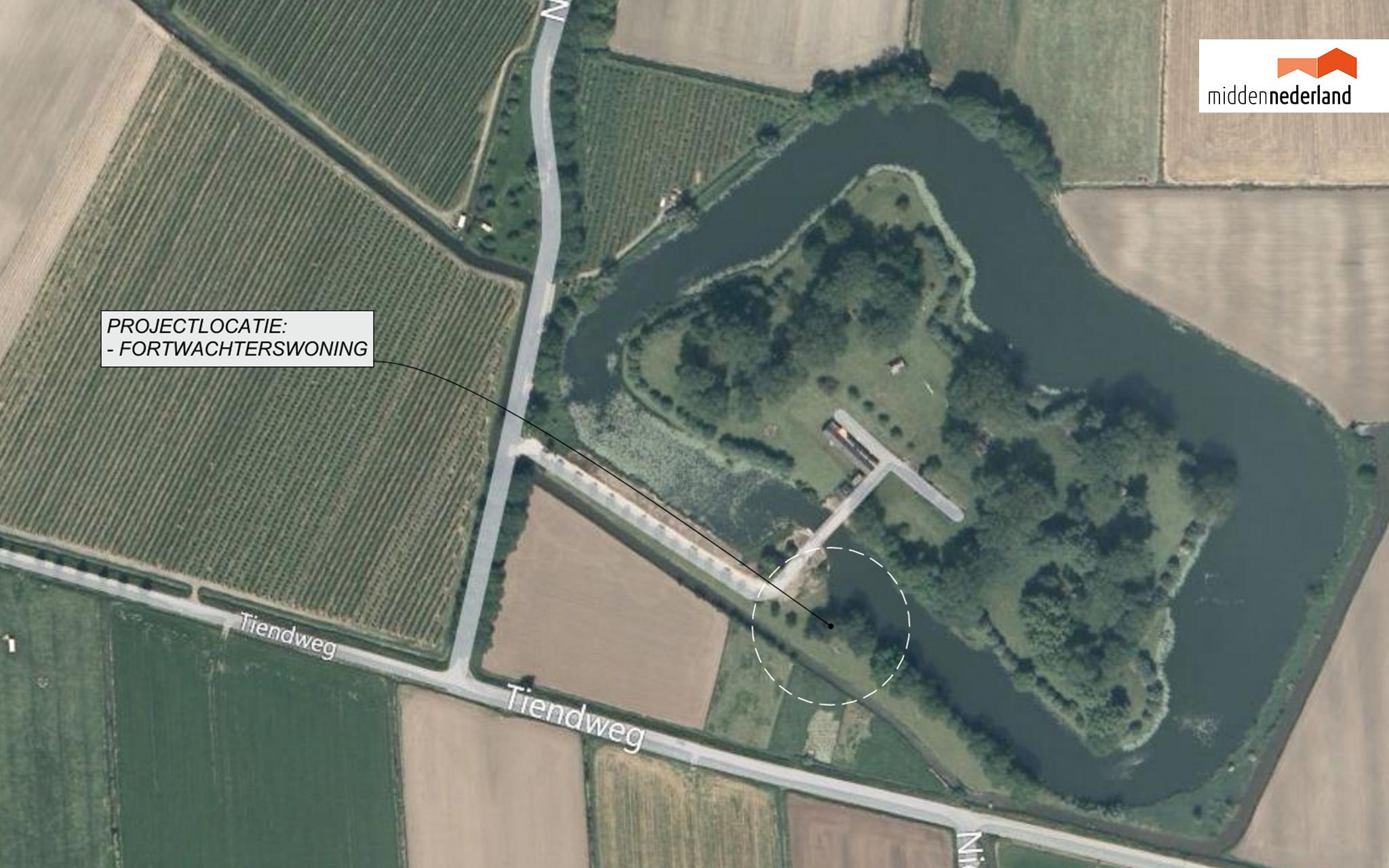 Fortwachterswoning locatie
